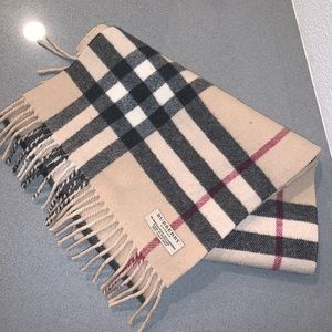 Authentic Burberry wool cashmere scarf nova check